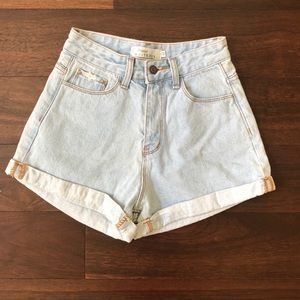 white fox boutique high waisted jean shorts